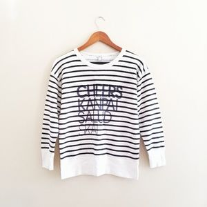 J. Crew Cheers Striped Pullover Sweatshirt 141